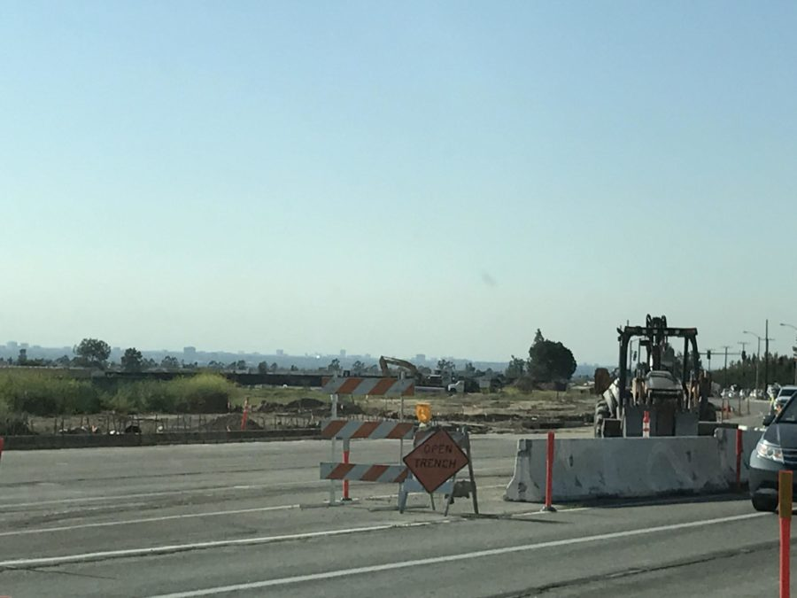 Irvine+Boulevard+has+been+under+construction+for+several+months.