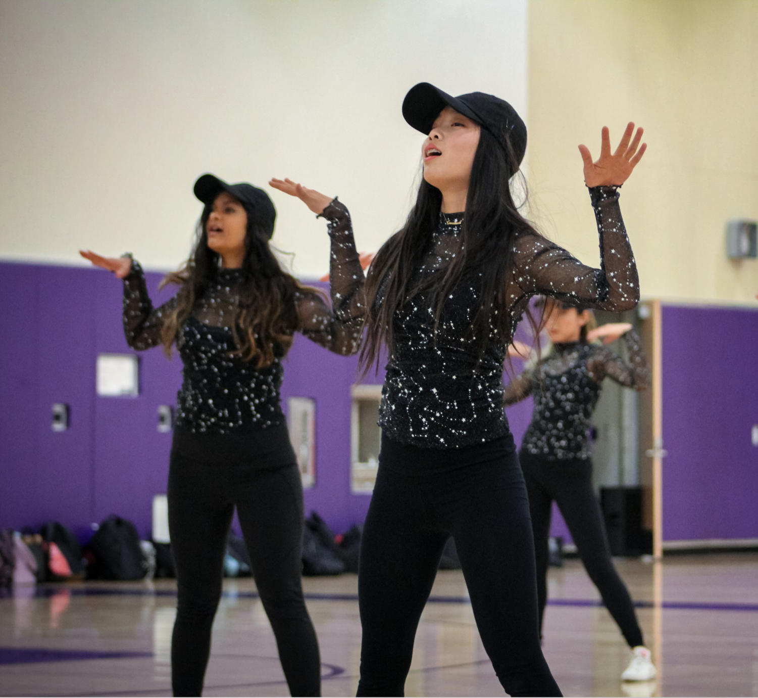 "Freshman Luna Lin dances to ""Partition"" during dance company's ""Iconic"" performance."