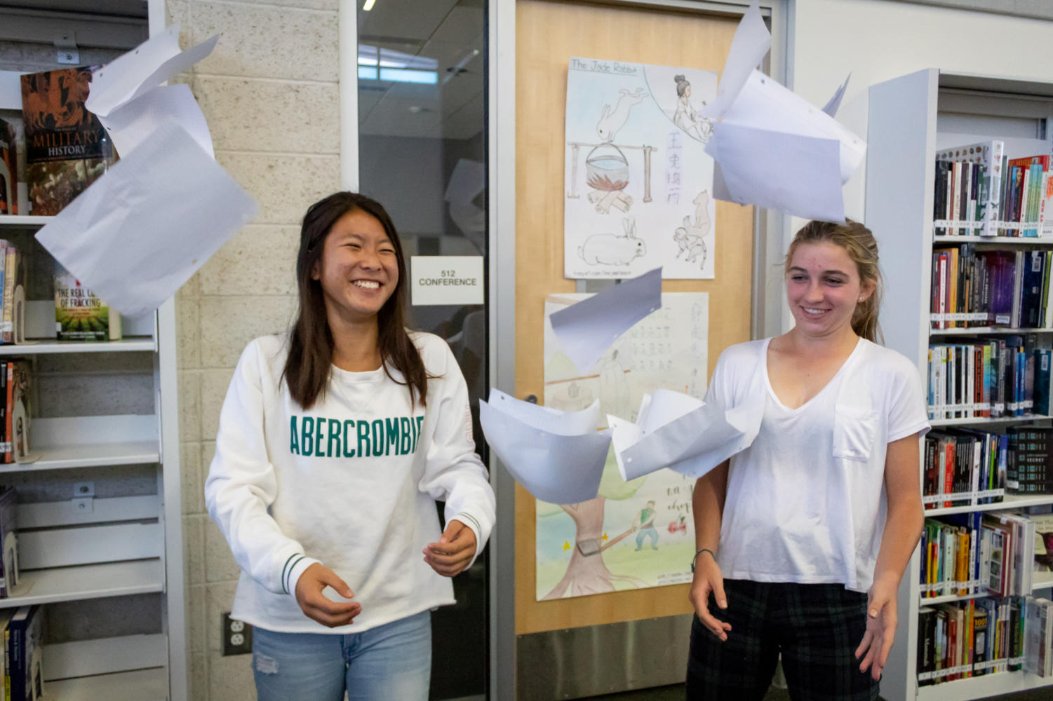 Sophomores Kate Hiyashi and Jordan Amlen are directors of Classline this year, which Hayashi began spring 2018. Since then, the team has created dozens of study guides and articles.
