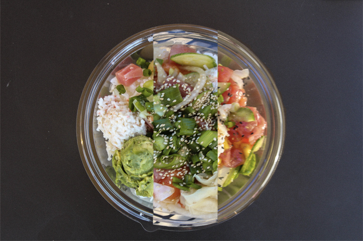 Each poke shop has many toppings that customers can choose from in order to customize upon arrival. Despite the fact that many of the stores had similar toppings, all three of the poke bowls created an explosion of different flavors bursting in our mouths, contributing to a unique experience each time.