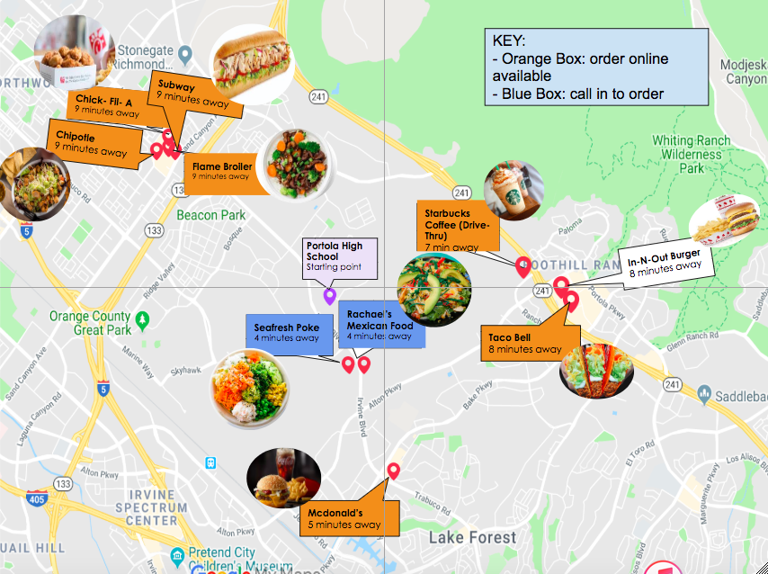 As+Portola+welcomes+more+student+drivers%2C+the+demand+for+affordable%2C+off-campus+quick+bites+increases.+There+are+a+number+of+places+around+school+with+quality+meals+that+students+should+know+about.+