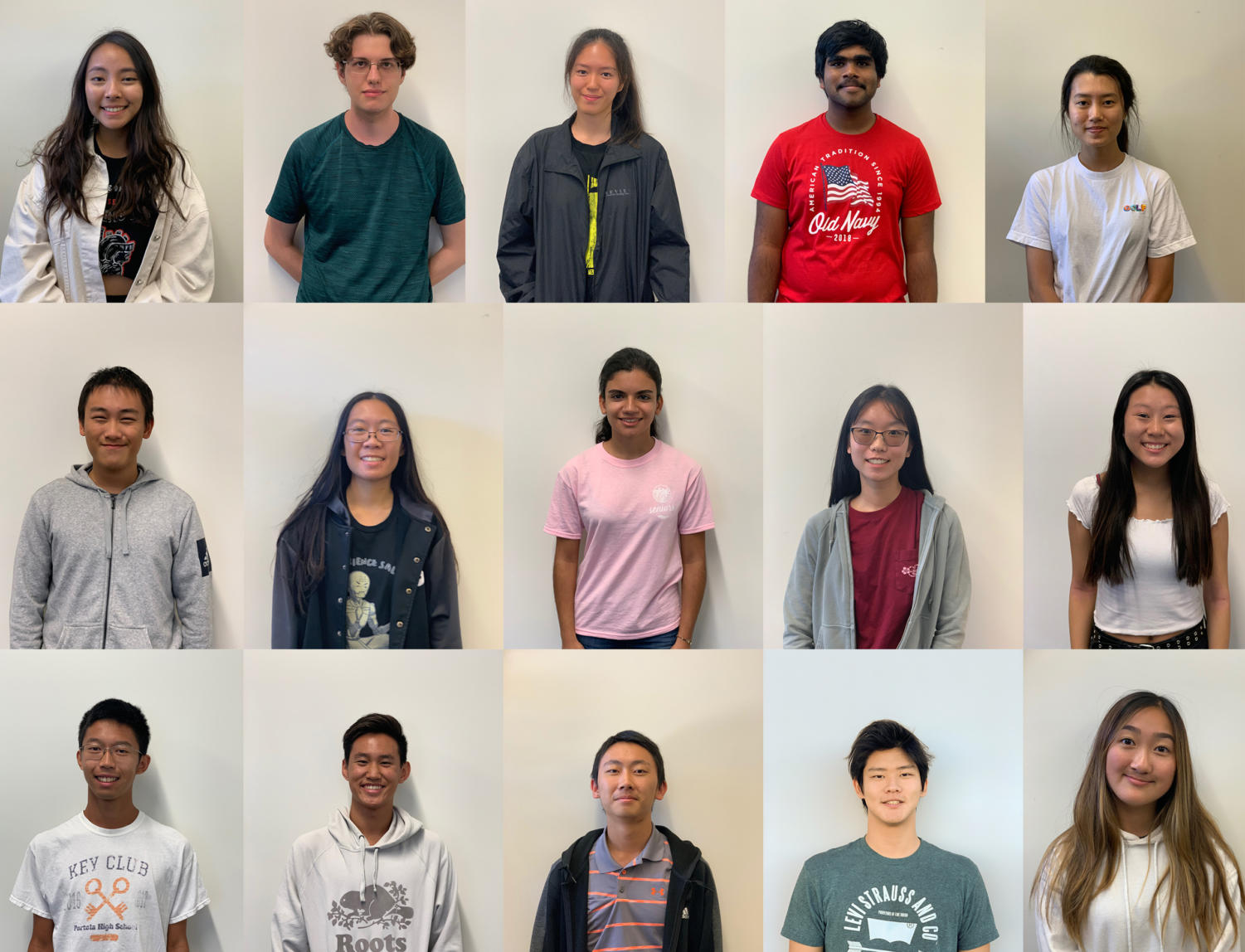 Stephanie Tang, Nicholas Delianedis, Grace Tu, Nishad Francis, Esther Jung, Joyee Chen, Angelica Chi, Dorsa Zahedi, Tianxin Guo, Stephanie Zhang, Xian Lun Zeng, Jason Chen, Andrew Wang, David Jang and Annie Qiao were the highest-scoring students on campus in fall 2018.