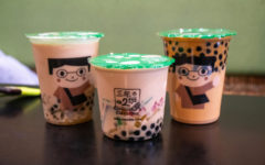 Almond milk tea, honey milk tea and class 302 milk tea all mixed together with boba, passion fruit, lychee and mango jelly, almond milk tea with every single topping and thai tea with boba are just a few of the drink combinations available.