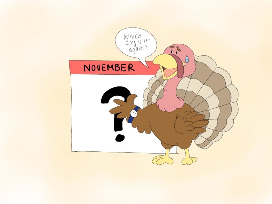 Thanksgiving+lands+on+the+fourth+Thursday+of+November%2C+which+means+that+depending+on+the+year%2C+the+date+of+the+holiday+can+differ+by+up+to+a+week.