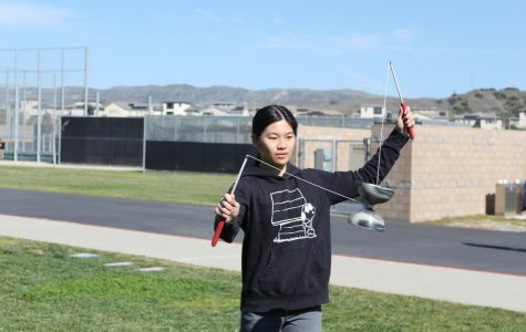 After six years of passionate practice, sophomore Renee Wang can perform a variety of advanced tricks, such as vertical axis, one-handed whips and double yo-yo.