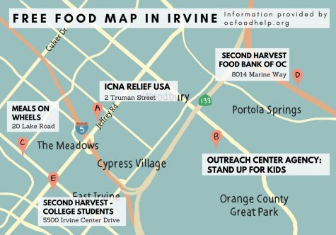 Second Harvest Food Bank delivers food to local pantries, where anyone in need of food can receive assistance. A map of all avaialable pantries in Orange County can be found at ocfoodhelp.org/orange-county-free-food-map/food-pantries/.