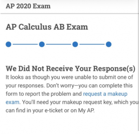 Thousands of students taking AP tests were greeted with this notice after taking their test.
