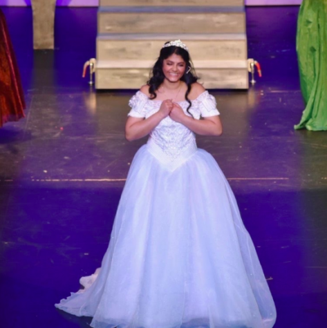 "Junior Raksha Rajeshmohan played the lead role in the spring ""Cinderella"" musical. By watching and writing about other local theater productions, she was able to utilize her unique perspective to improve her performance on stage."