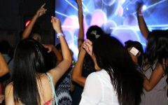 Students gather for a night of dancing and celebration.