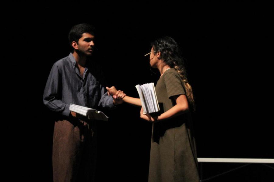 Freshman+Samir+Behera+plays+the+role+of+John+Proctor+with+freshman+Kayla+Espiritu+as+Abigail+Williams.+