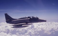 Donaghy flew an OA-4M Skyhawk, shown here departing from MCAS El Toro Base in the early 1980's.