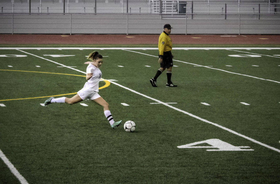 Hopper+has+been+shooting+goals+on+the+soccer+field+since+she+was+four+years+old.+