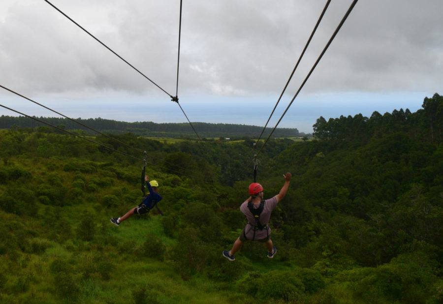 Aside from teaching, Olivares enjoys spending time with his family. He went to Hawaii last summer where he ziplined with his daughter.