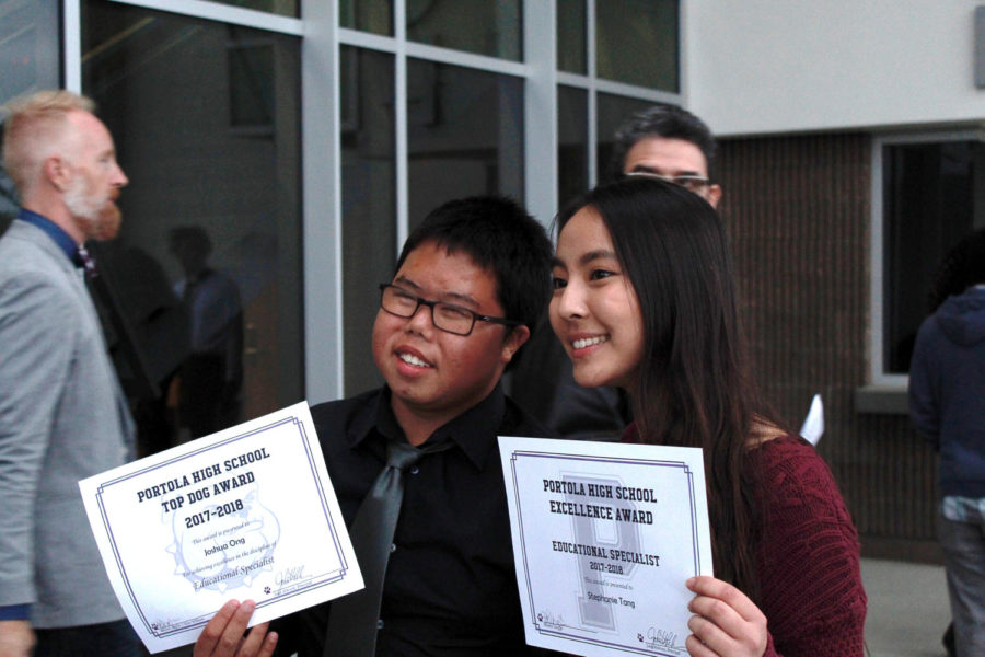 Freshman Joshua Ong and sophomore Stephanie Tang created an unforgettable bond through Buddy Club every Wednesday lunch. They were both recognized by the counseling department for having a positive influence and creating an inclusive environment at the campus.