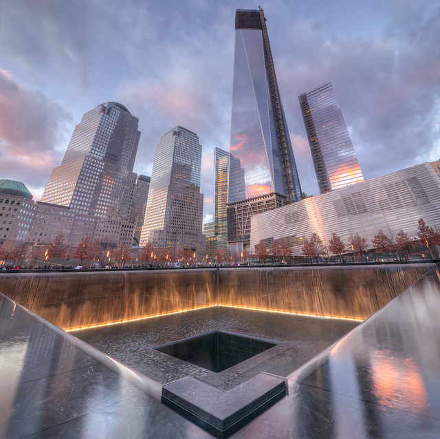 The+9%2F11+Memorial+at+New+York+City+commemorates+the+names+of+nearly+3%2C000+people+who+died+in+the+attacks%2C+including+civilians+and+first+responders.