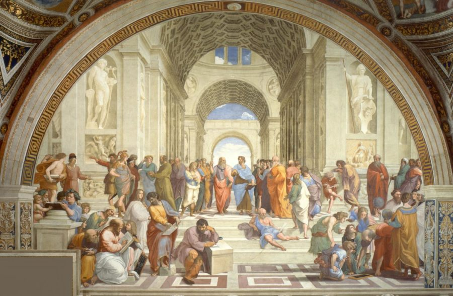 Students+taking+AP+Art+History+will+be+analyzing+famous+pieces+of+art%2C+such+as+the+above+image%3A+Raphael%E2%80%99s+fresco+of+the+School+of+Athens.