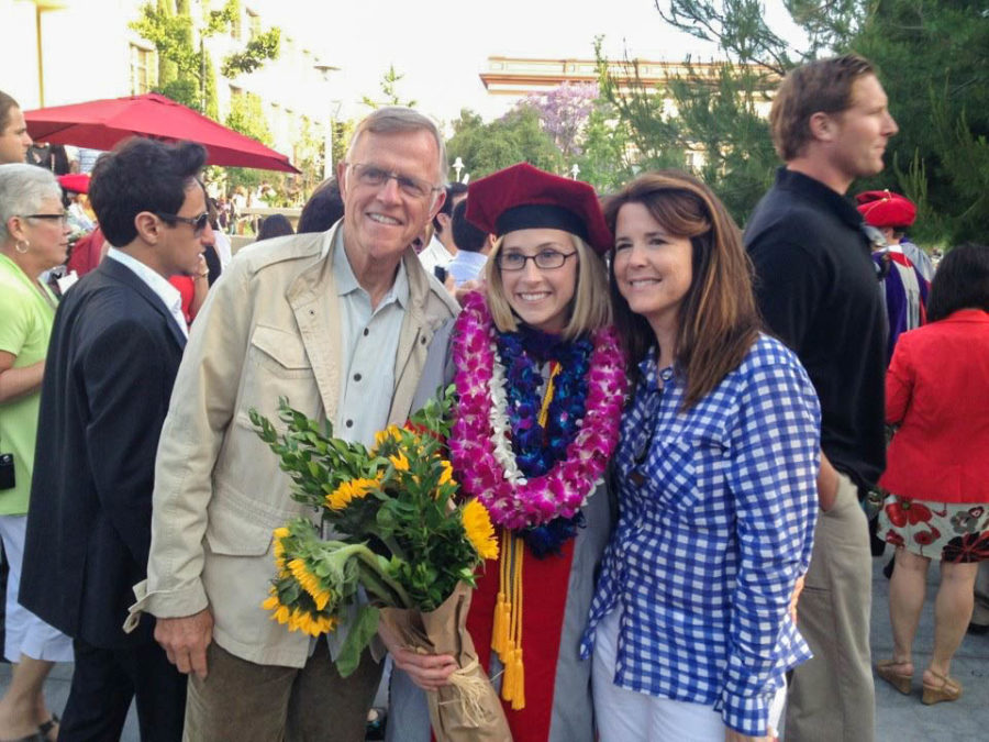 Beginning+the+next+stage+in+her+life%2C+Murphy+graduates+law+school+and+is+congratulated+by+her+family.+Murphy+spent+three+years+getting+her+degree+at+Chapman+Law+School.
