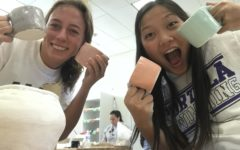 Students Niki Szekely and Haley Truong created mugs and pinch pot bowls in an array of different sizes, shapes and colors. After completing assigned projects, students are able to utilize their free time and express creativity through sculpting personalized projects.