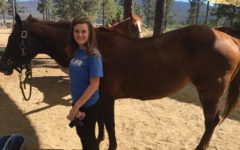 Gilliland tends to the horses at Camp Ronald Mcdonald for Good Times, where she initially volunteered with her cousin in 2016 and was recently hired in 2018.