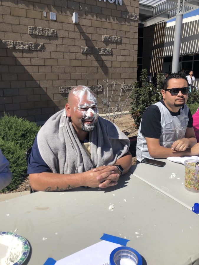After purchasing a pie for $1, students had the opportunity to pie any of their favorite teachers.