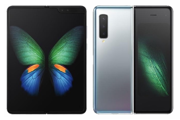 The Galaxy Fold uses app continuity, in which apps can easily switch between the tablet screen and the phone screen depending on the fold.