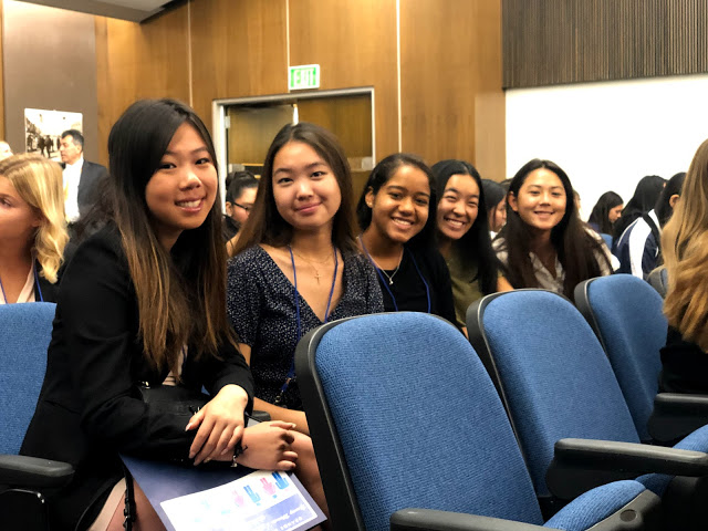 Ariana Wu, Kristen Ok, Saachi Pavani, Allison Shi, and Lauren Hwang remain in their seats, waiting for one of the three total panel presentations to commence. Among the many speakers in this conference, the female judges ‒especially one first-generation immigrant judge‒ stood out because of their personal stories on the difficulties of career advancement.