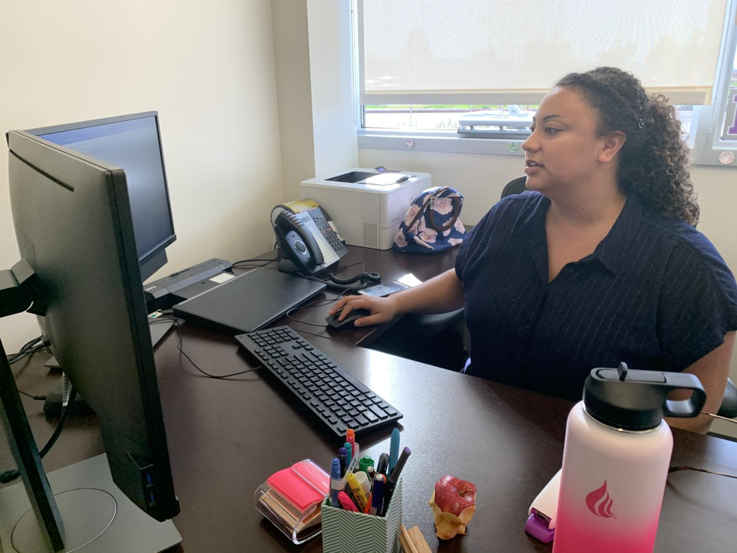 Nicole Jackson works on promoting healthy life decisions and creating a comfortable environment for students on campus