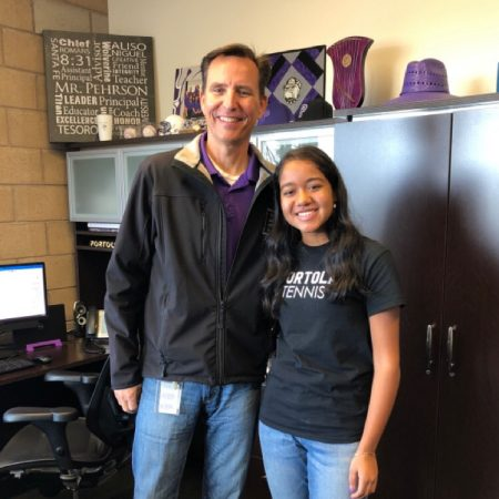 Principal John Pehrson speaks with sophomore Saachi Pavani about his journey to becoming the principal of a new state-of-the-art high school. The conversation highlights how the staff helps students feel like they belong in the community and Pehrson's hopes for the school in the future.
