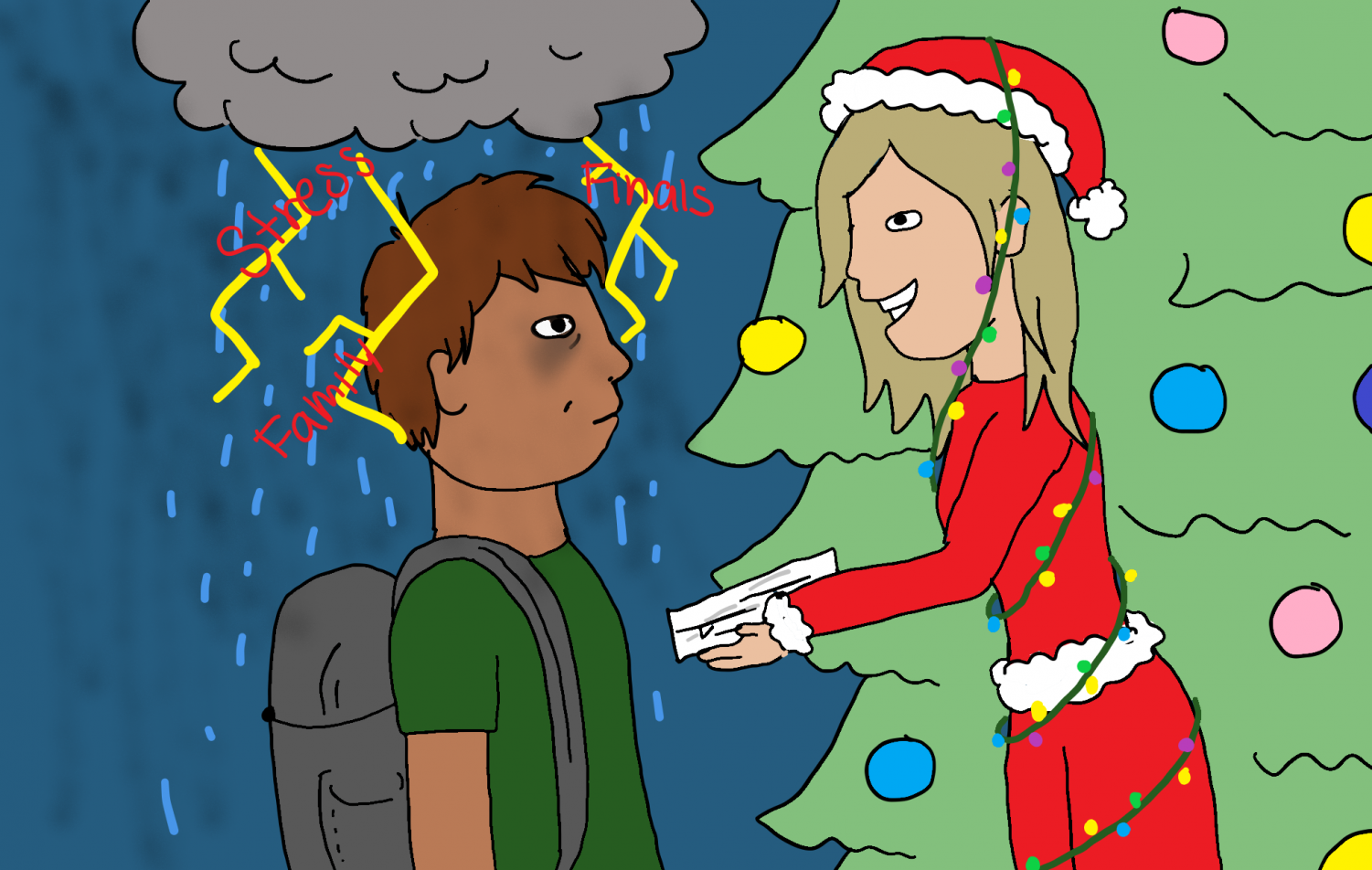 During the holidays, students are able to kick back and enjoy their vacations, whereas teachers have the hassle of