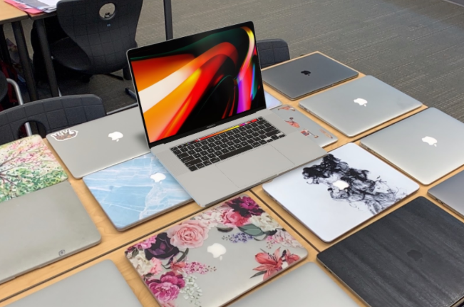 One way Apple promoted the new MacBook Pro was an augmented reality program that allowed customers to see the reiteration in their surrounding environment using their phone cameras.