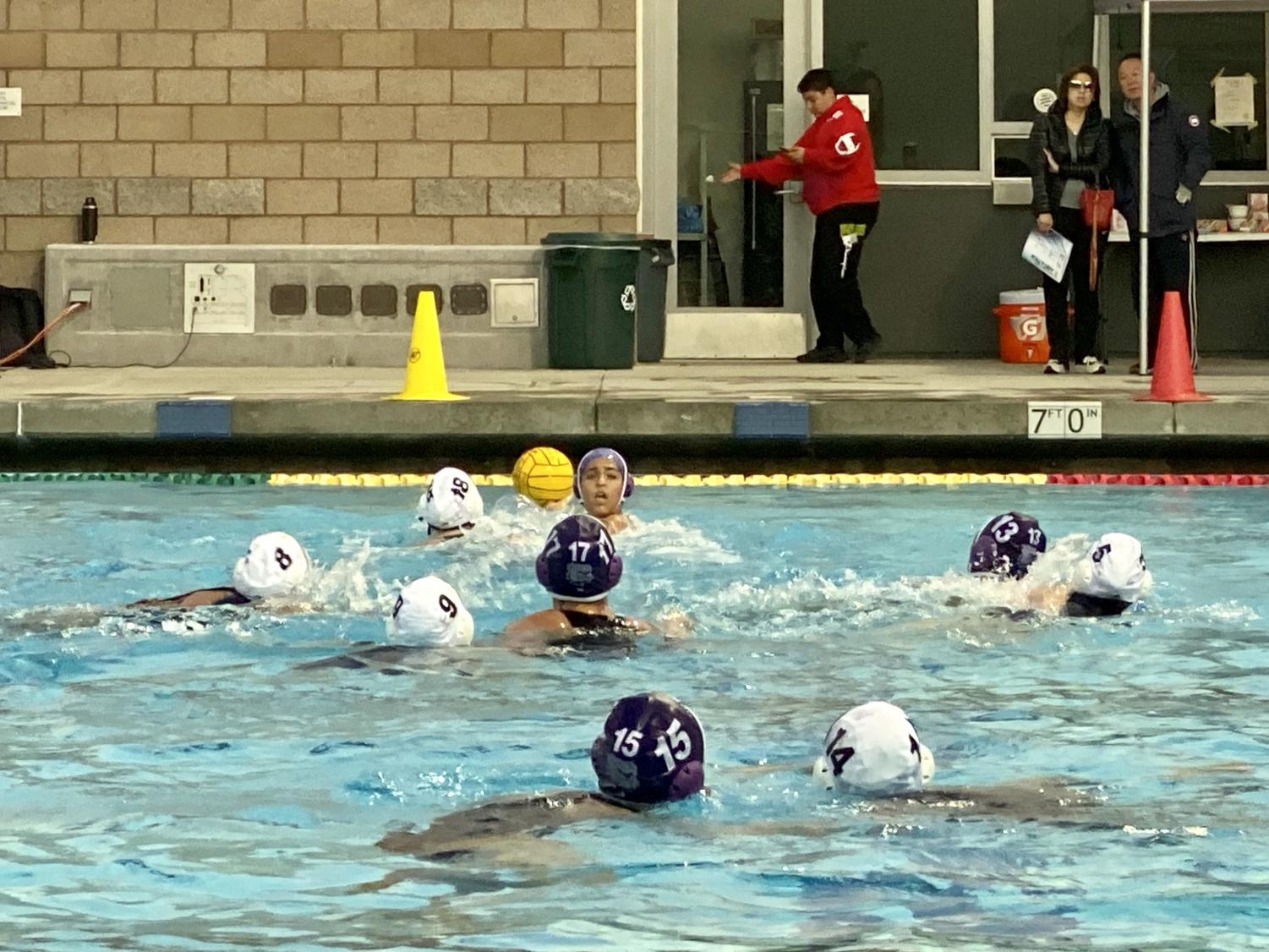 The Bulldogs played against Crean Lutheran High's first girls' water polo team, which allowed them to practice new defensive techniques and learn how to adapt to different playing styles.