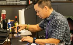Trinh's career as Portola High's computer specialist began in 2017 after transferring from Ladera Elementary school. Shortly after his move in 2018, he was put in charge of the school's one-to-one chromebook device program. He works behind the scenes during the school day and even breaks to troubleshoot and repair students' personal devices.