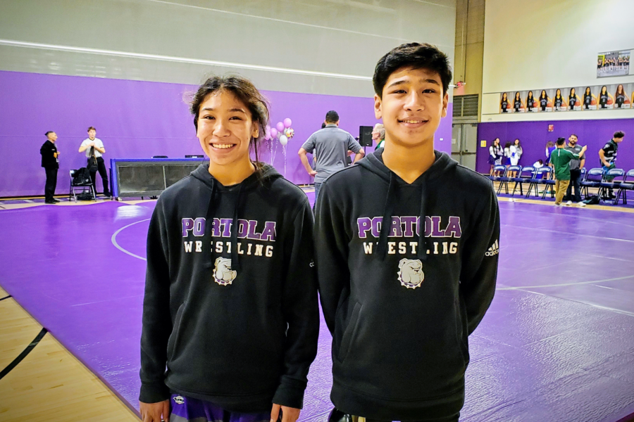 Ethan+and+Carissa+Qureshi+competed+at+a+USA+Wrestling+Tournament+at+Laguna+Hills+High+on+Oct.+5%2C+2019.+The+sibling+duo%2C+who+had+been+training+frequently+after+school%2C+both+placed+first+in+their+respective+divisions.