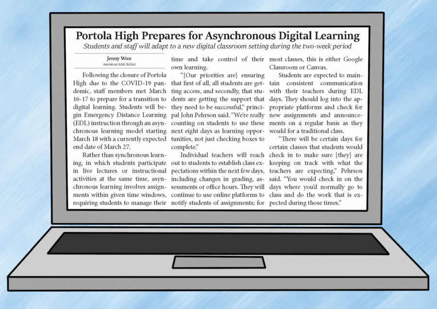 Dear Portola Pilot Readers,     About one week before we were scheduled to release another print issue of the Portola Pilot, we received notice that IUSD had decided to close all schools and facilities, effective immediately, due to the growing concerns of COVID-19 (coronavirus). Due to these circumstances, we present this month's issue of the Pilot digitally for our community to read.     We know that this time can bring lots of fear, anxiety and confusion among the spread of speculation and rumors, but we want to encourage everyone to continue to do research and to read information from reliable sources before coming to conclusions.  We've included the most recent information regarding COVID-19, but this information is subject to change as the situation continues to be monitored.     While this pandemic has a large impact on Portola High, IUSD and the Irvine community, it is important to us that we continue to do what we do best: delivering information of the utmost integrity and quality to our readers.     The Portola Pilot will be updating the latest news on COVID-19 and continuing regular school coverage on portolapilot.com and @portolapilot on Instagram and Facebook. Questions, comments and concerns can be sent to portolapilot@gmail.com and may be featured in a future Letter to the Editor. We thank you all for continuing to support student journalism by reading our stories.     Wishing you well,   Helena Hu and Simrat Singh  Co-Editors-in-Chief  Portola Pilot