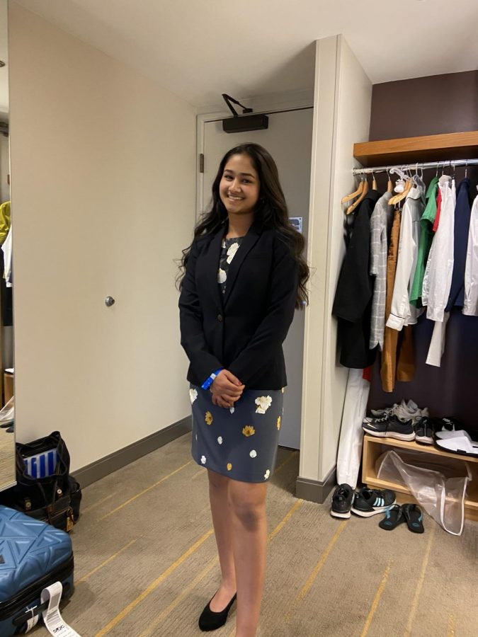 "Goyal attended a DECA (Distributive Education Clubs of America) state conference, and competed in tests for ""Startup Business Plan"" and ""Intro to Finance"" to experience the competitive and timely manner of the business world."