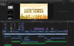 """Senior Angela Kim edited the video, spending approximately ten hours per one minute of footage to piece together the elements, which are all depicted in this video timeline. Her inspiration was Vox, which explains why """"The World's Largest Humanitarian Crisis Explained 