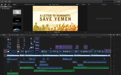 "Senior Angela Kim edited the video, spending approximately ten hours per one minute of footage to piece together the elements, which are all depicted in this video timeline. Her inspiration was Vox, which explains why ""The World"
