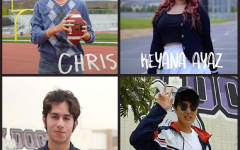 Junior Christopher Stocks, junior Keyana Ayaz, senior Sohrob Shahmirzadi and junior Garrett Lee join the Portola News Network reporting team for the 2020-21 school year.