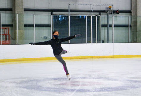 Every Saturday mornings, sophomore and figure skater Katherine Chang practices at the Great Park ice rink in Orange County. Chang has been skating since she was 5 years old.