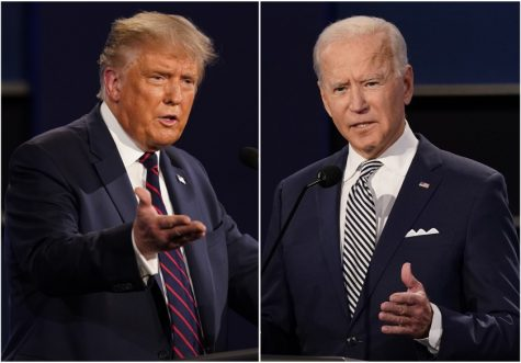President Donald Trump and former Vice President Joe Biden face off at their first presidential debate on Sept. 29 in Cleveland, Ohio. The debate was criticized by the media and the public for its lack of decency and control between the candidates and the moderator.
