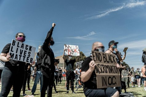 Black Lives Matter protests became prevalent throughout the country around early June, as evidenced by this local protest which took place at the Irvine Civic Center on June 3.