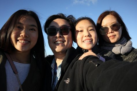 Senior Angela Kim and freshman Rachel Kim's father normally lives in Korea, but he always makes the visit back home for Christmas.