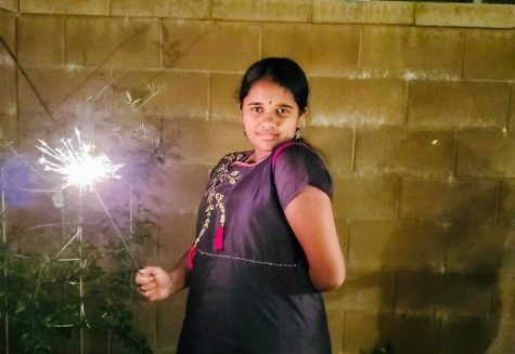 Despite the pandemic, freshman Vismaya Sista is still celebrating many traditional aspects of Diwali, such as bursting firecrackers and sparklers. Due to COVID-19 regulations, many families are celebrating themselves instead of with larger groups.