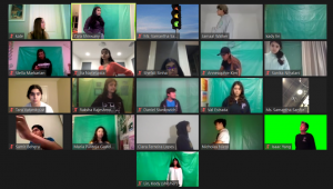 As the first virtual production at Portola High, this year's fall play was filmed on Zoom instead of performed live. To accomodate for not being able to shoot in-person, all members used green screens to create the effect that they were in the same setting.