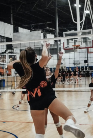 Although junior Emma Hintermeyer originally trained to be a middle blocker, during her time at Mater Dei High and Portola High, she learned how to play both the opposite and outside positions as well.