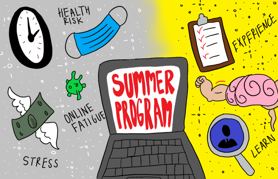 Though students' focus on the distinction between online and in-person summer programs this year is founded on a variety of concerns, they should not lose sight of the undoubtedly positive experiences that all types of summer programs, whether virtual or physical, bring to the table, including insights offered by mentors and college-level expansion upon typical high school curricula.
