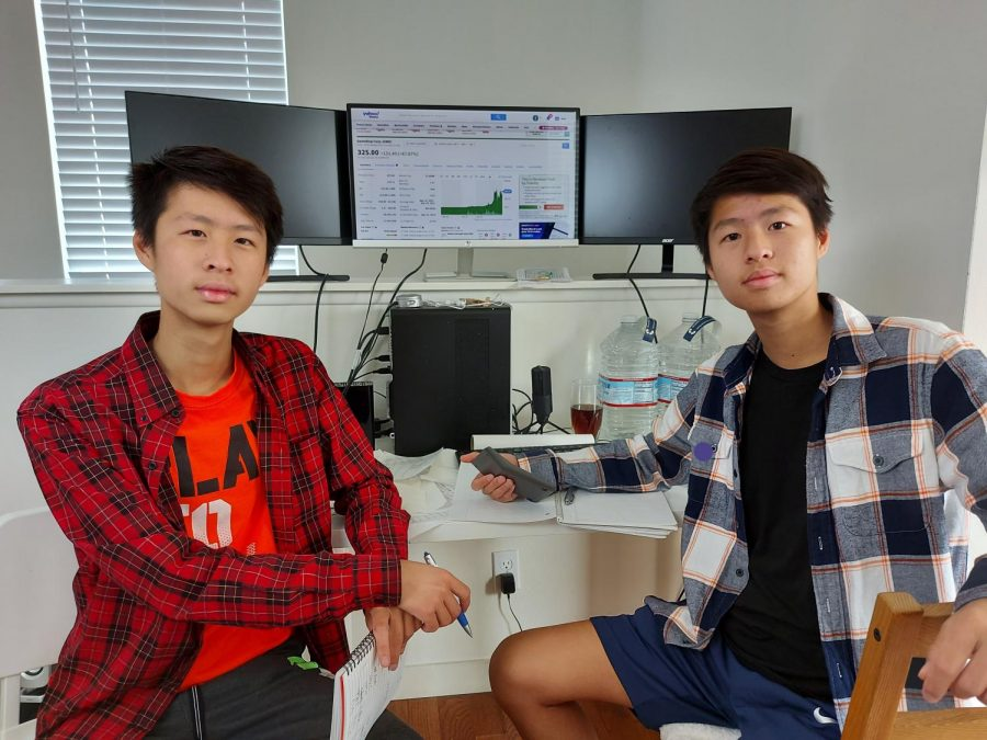 Alex and Ethan Zhang are in charge of the stock trading sect within the Finance and Stock Trading Club. Activities center around discussion of stock trading and new trends in the market.