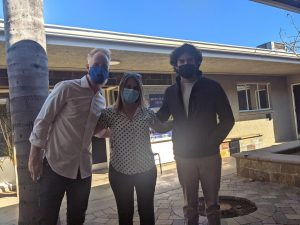 Social studies teacher Wind Ralston, Spanish teacher Caroline Aldemir and choir director Adrian Rangel-Sanchez all received their vaccinations at Families Together of OC on Feb. 24.