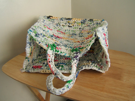 Plastic bags can be reused or repurposed as many necessary items, such as a reusable bag. This helps reduce plastic waste in oceans and the environment, while still looking stylish.