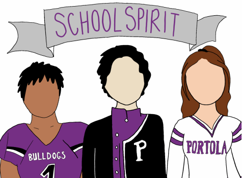 Home football games allow the football team, marching band and cheer team to unite Portola High under the banner of school spirit.